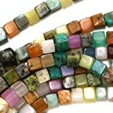 Gemstone Cube Bead Mix 4 x 4mm Beads /15.5 Inch Strand ~ UnCommon Artistry