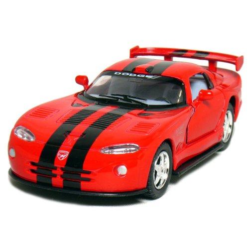 "5"" Dodge Viper GTR-S 1:36 Scale (Red/Black Stripes) - 1"