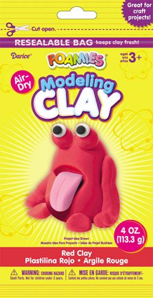 Foamies Foam Modeling Clay - Red - 4 oz - 1