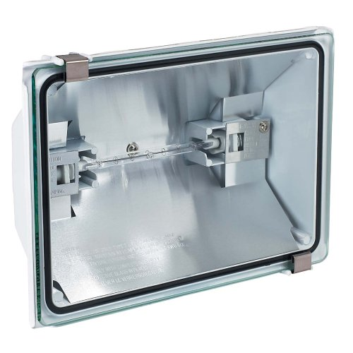 globe 150 watt outdoor flood light with low light sensor. Black Bedroom Furniture Sets. Home Design Ideas