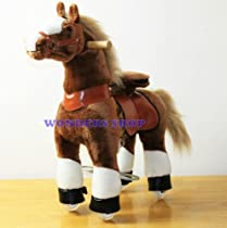 WONDERS SHOP USA Ponycycle Pony Cycle Ride On Horse No Need Battery No Electric Just Walking Horse BROWN - Size SMALL for Children 2 to 5 Years Old or Up to 55 Pounds