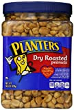 Planters Dry Roasted Peanuts, With Pure Sea Salt, 34.5-oz. Packages (Count of 3)
