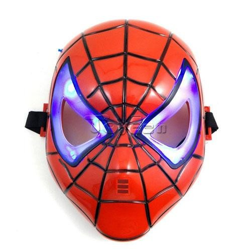 Spiderman Mask LED Blue Light Mask Face Mask Full Face Cosplay Costume Halloween Cosplay
