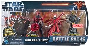 "Star Wars Battle Packs ""Darth Mauls Return"" Darth Maul, Savage Opress, Nightsister- The Clone Wars von Hasbro"