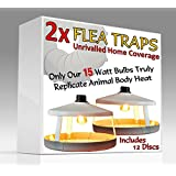 Medipaq® 2x FLEA Traps - The Electronic TRAP catches pests and insects with ease! - Highly effective with 12 discs included