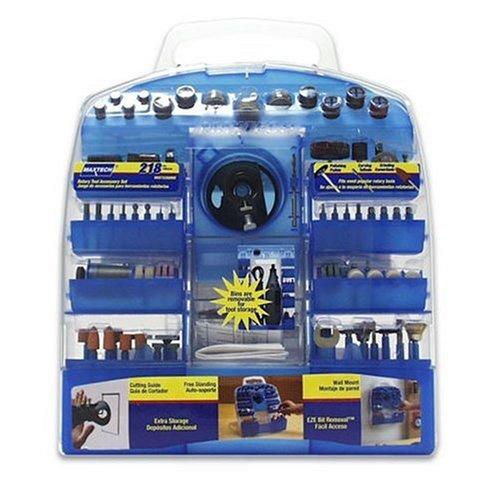 Maxtech HSS73389MX Rotary Tool Accessory Set, 218-pc