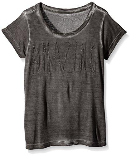 DDP G1POL4I-T-shirt  Bambina    Grigio (Carbone) 16 anni