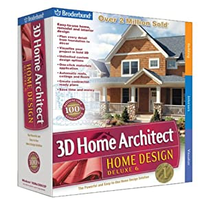 Broderbund 3D Home Architect Home Design Deluxe 6 Old Version