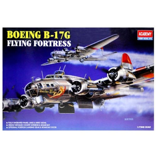 Academy 1/72 B-17G Flying Fortress Aircraft Plastic Model Kit #12490