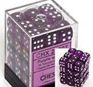 Chessex Dice d6 Sets: Purple with Whi…