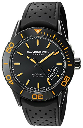 Raymond-Weil-Mens-Freelancer-Swiss-Automatic-Stainless-Steel-and-Rubber-Dress-Watch-ColorBlack-Model-2760-SB2-20001