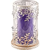 KRAFT N ROOM Metal Tealight Candle Holder (Silver, 22 Cm X 14 Cm X 22 Cm)