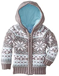 Wippette Baby Boys\' Snowflake Sweater Coat, Grey, 24 Months