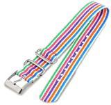 Timex Watch Bands T7B927GZ 20 -mm Weekender Replacement Strap Multicolor Stripe Watch Strap