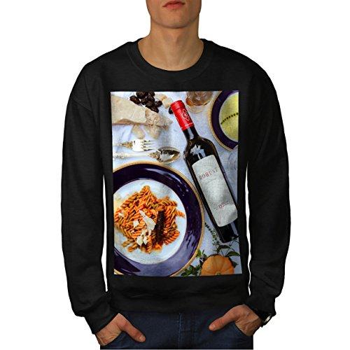 Sweet Wine And Pasta Eat Italian Men NEW Black L Sweatshirt | Wellcoda (Italian Pepper Cookies compare prices)