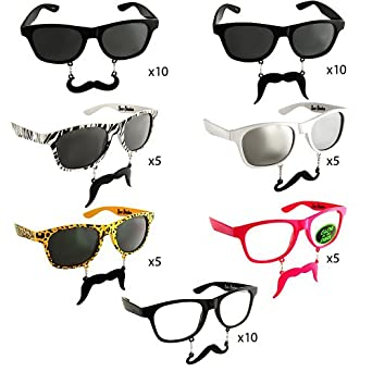 "Sun-Staches ""The Original Mustache Sunglasses"" Catch eyes. Turn heads. BE THE PARTY. (50 Pieces Set)"