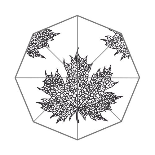 "Anhome Loftdried Hampton Art Maple Leaf Four Corner Auto Folding Foldable Umbrella 25.6""X 21.7""X 13.8"" front-905119"