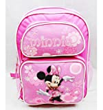 Medium Backpack - Disney - Minnie Mouse - with All Pink Flowers
