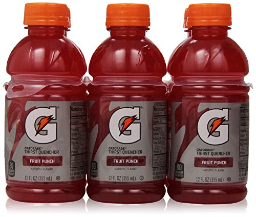 Gatorade Thirst Quencher, Fruit Punch, 12 Ounce (Pack Of 6)