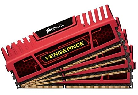 Corsair CMZ16GX3M4X1866C9R Vengeance 16GB (4x4GB) DDR3 1866 Mhz CL9, Rouge