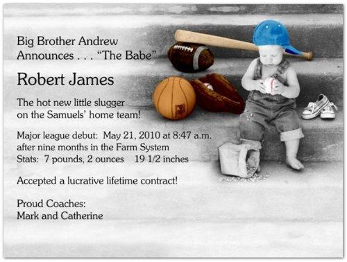 Little Sport Birth Announcements - Set of 20