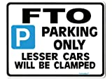 FTO Car Parking Sign - Gift for Mitsubishi GPX 2000cc models - Size Large 205 x 270mm