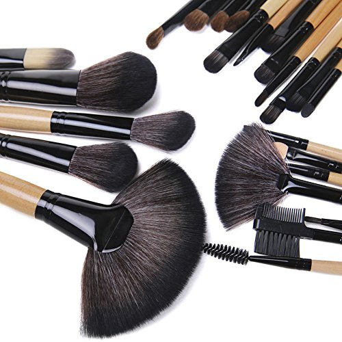 Details for BESTOPE 32PCs Professional Makeup Brushes Synthetic Kakubi Cosmetic Mac Makeup Brush Set with Leather Traverl Pouch Bag Case from BESTOPE US