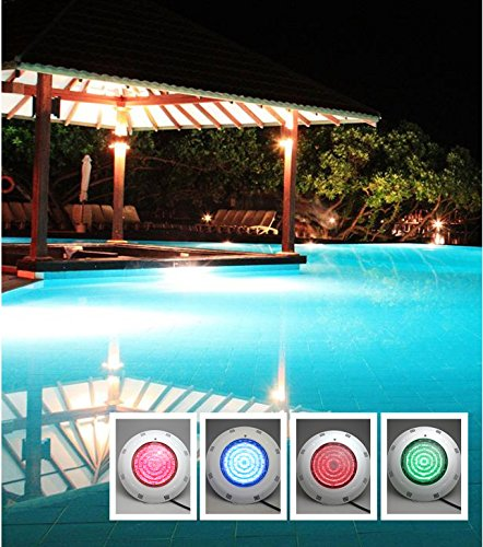 AGPtek® 252 LED Underwater Swimming Pool Light Fountains Lamp Pond Light RGB 5 Colour with Remote Control