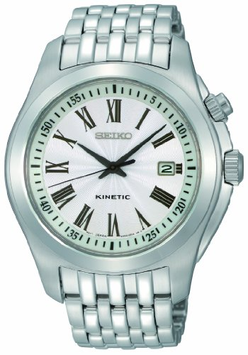 Seiko Men's Bracelet Watch SKA467P1 with White Date Round Dial