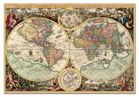 Amazon.com: Ancient World Map 1000 Pc Puzzle By Educa: Toys & Games