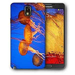 Snoogg Jellyfish Season Printed Protective Phone Back Case Cover For Samsung Galaxy NOTE 3 / Note III