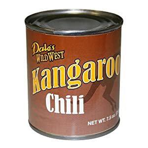 KANGAROO CHILI- Exotic Gourmet Canned Wild Game Meat 7.5 oz