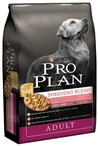 Purina Pro Plan Dry Adult Dog Food, Shredded Blend Natural Lamb and Rice Formula, 35-Pound Bag