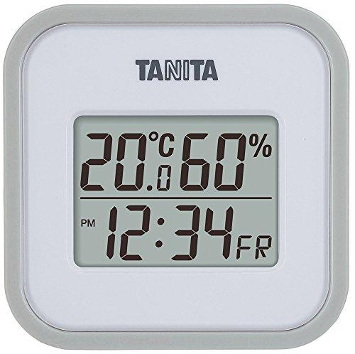 タニタ デジタル温湿度計 置き掛け両用タイプタイプ/マグネット付 グレー TT-558-GY