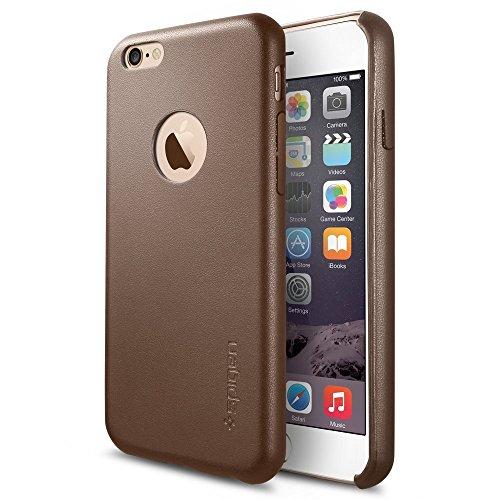 SpigeniPhone6s  ケース / iPhone6 ケース, レザー・フィット [パーフェクト-フィット] アイフォン6 用 カバー (オリーブ・ブラウン SGP11356)