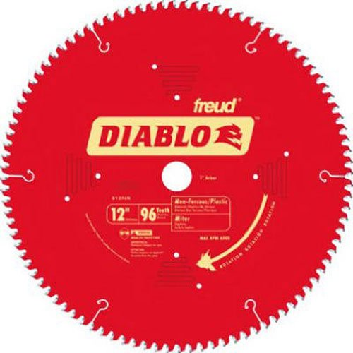Freud D1296N Diablo 12-Inch 96 Tooth TCG Non-Ferrous Metal and Plastic Cutting Miter Saw Blade with 1-Inch Arbor (12 Aluminum Blade compare prices)