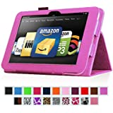 "Fintie Kindle Fire HD 8.9"" Slim Fit Leather Case with Auto Sleep/Wake for Amazon Kindle Fire HD 8.9 (will not fit HDX models) - Violet"