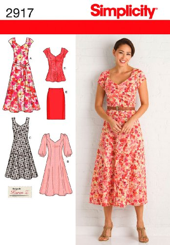 Simplicity+Sewing+Pattern+2917+Miss%2FPlus+Size+Dresses%2C+AA+%2810-12-14-16-18%29