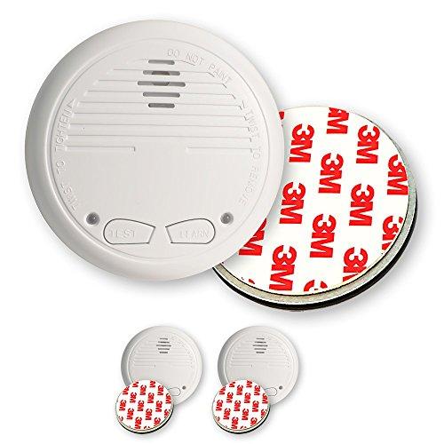 2 Nemaxx WL2 Funkrauchmelder Rauchmelder Brandmelder Set Funk koppelbar vernetzt - nach EN 14604 + 2x NX1 Quickfix Magnet