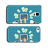 business earning and payment on line on mobile device concept cell phone cover case iPhone5