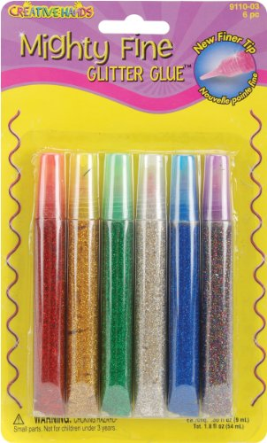 Fibre-Craft Creative Hands Mighty Fine Glitter Glue Pens .3 Oz. 5-Pack: Basic