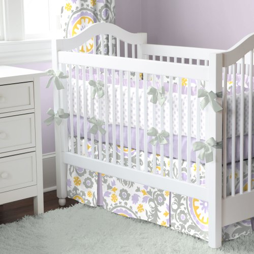 Lilac Suzani 3-Piece Crib Bedding Set front-344422