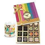 Luxury Collection Of White And Dark Chocolate Box With Birthday Mug - Chocholik Belgium Chocolates