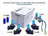 Alfa Romeo Spider (916S_) 2.0 JTS 121kw, Bj 04.03-04.05 Xenon Headlight Bulbs H3,HB3,HB3,W5W