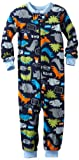 Gerber Baby-Boys Infant 1 Piece Unionsuit Dino Talk Pajama, Navy Blue/Green, 18 Months