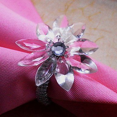 Sunflower Napkin Ring Set of 6, Pearl Dia 4.5cm цены онлайн