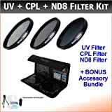 NEW 58mm Digital High-Resolution ND8 Filter Kit For Canon Digital EOS Rebel T3i Digital SLR Camera Which Has Any...