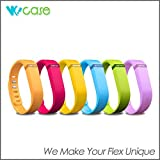 WoCase Replacement Accessory Fitbit Flex Wristband Wrist Band Bracelet (Orange, Large) with Clasp for Fitbit Flex Activity and Sleep Tracker (One Band+ One Clasp)