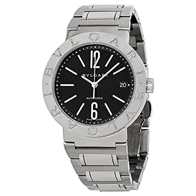 Bvlgari Bvlgari Automatic Black Dial Stainless Steel Mens Watch 101370