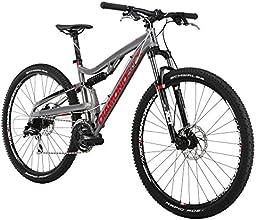 Diamondback Bicycles 2015 Recoil Full Suspension Complete Mountain Bike, 16-Inch/Small, Silver